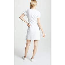 Victoria Victoria Beckham Tuck Front Mini Dress Ivory Multi Melange Fabric Marled jersey knit Ruched detail at front PMXXGGI