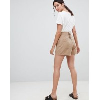 DESIGN lace back culotte shorts in sand High rise 1270828 NPNWYVL