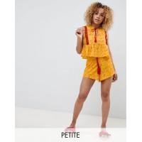 Glamorous Petite Relaxed Shorts With Tassle Ties In Patchwork Print Co-Ord Co-ord style 1259624 PFZMAGH