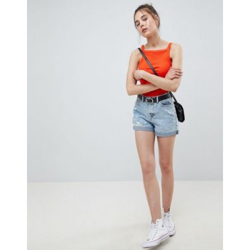 Pimkie ripped detail denim mom shorts Just like your mum's in the 80s 1283523 BONVAWD