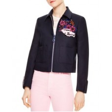 Sandro Loria Cropped Cuba Patch Jacket Designed for a slim fit 2870225 YHQFJDE