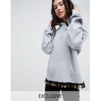 Rokoko oversized festival hoodie with coin and tassel trim For casual layering 1301801 WYVAXNW