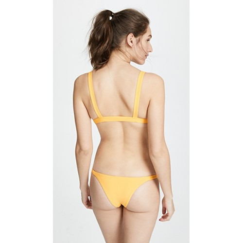 Vitamin A Neutra Triangle Top Sunflower Ribbed texture Triangle top HPBQDNW