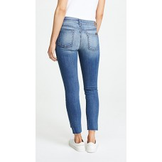 7 For All Mankind Ankle Skinny Jeans with Step Hem Distressed Authentic Light 3 NQYURFE