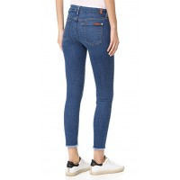 7 For All Mankind bair Ankle Skinny Jeans with Raw Hem New Luxe HBTMWKZ