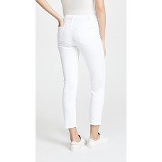 7 For All Mankind Roxanne Ankle Jeans with Raw Hem White MFMSFII