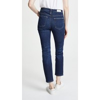 AG The Isabelle Jeans 12 Years Verbiage Fabric Stretch denim Light fading ANMRIYS