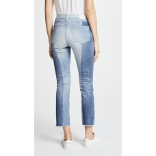 AG The Isabelle Jeans 21 Years Illusion Fabric Non-stretch denim Raw cuffs YWJIJVX