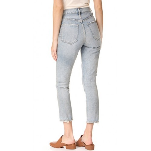AGOLDE Riley High Rise Straight Crop Jeans Vanished GUBGQTI