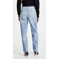AGOLDE The Baggy Jeans Burgess Fabric Non-stretch denim Shredded cuffs and worn spots UDAPKGI