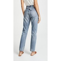 Citizens of Humanity Charlotte High Rise Straight Jeans Wynwood Fabric Non-stretch denim Whiskered & faded light wash ZGPLRQF