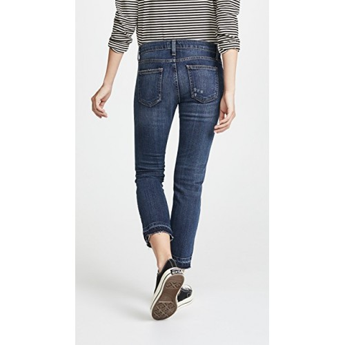 Current Elliott The Cropped Straight Leg Jeans Loved with Let Out Hem RDROPZW