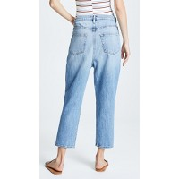FRAME Le Overlap Jeans Jett Fabric Non-stretch denim Overlapping button closure GHOYXOG