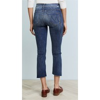 MOTHER The Insider Crop Step Fray Jeans Not Rough Enough TMBQJDP
