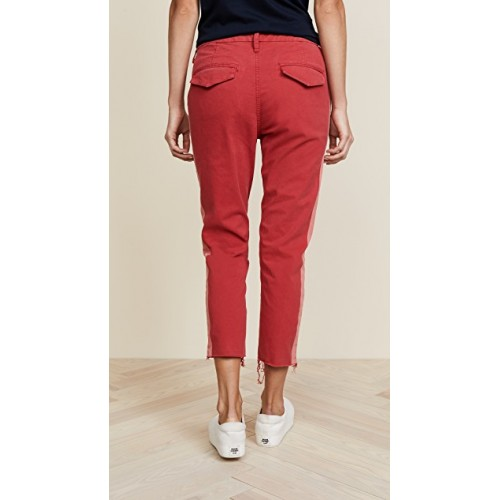 MOTHER The Shaker Prep Fray Jeans Poppy Fabric Twill Distressed OMAUKNQ