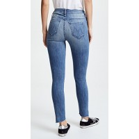 MOTHER The Stunner Zip Ankle Step Fray Jeans Good Girls Do WARRRUP