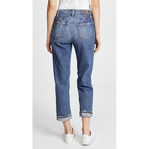 PAIGE Mikey Mike Jeans Covina Fabric Lightweight non-stretch denim Frayed edges OQQXSUP