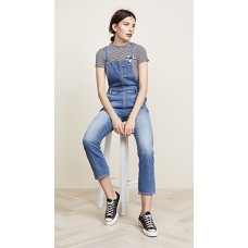7 For All Mankind Edie Overalls Mojave Dusk Fabric Stretch denim Fading and whiskering FPUMHRM
