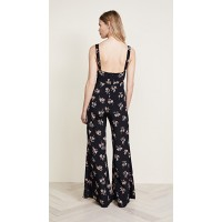 Blue Life Gypset Jumpsuit Nightfall Bouquet Fabric Crepe Notch at chest FIHDQCL