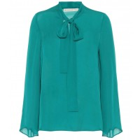Etro Silk pussy-bow blouse material 100% silk P00330848 SGUILBN