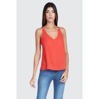 Women Clothing RING DETAIL WOVEN CAMI  S045/0104/023_RED CMRPXKH