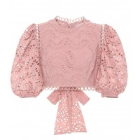 Zimmermann Exclusive to mytheresa.com – cotton voile crop top material cotton P00317977 PAGMHUG