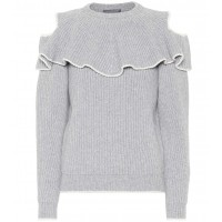 Alexander McQueen Wool and cashmere sweater material 70% wool 30% cashmere P00334011 MZPENYN