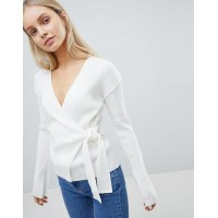 DESIGN wrap jumper in rib Not for the clumsy ones 1262758 ZBZJRRS
