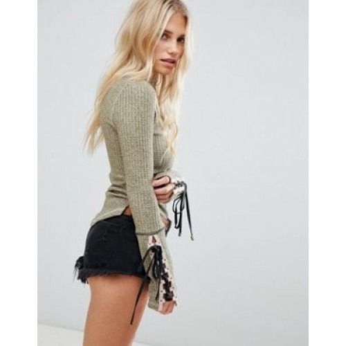 Free People Mountaineer cuff thermal top Cute right? 1325888 GIKYINY