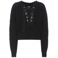 Isabel Marant Laley lace-up sweater material 55% cotton 40% wool 4% polyamide 1% elastane P00294033 ODTNLGE