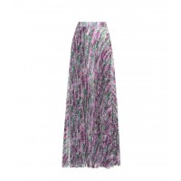 Max Mara Floral-printed pleated skirt material 100% polyester P00320222 GZUTUQX