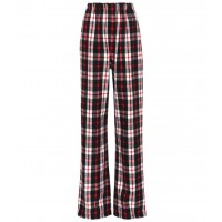 Balenciaga Plaid wool-blend pants material 42% wool 33% acrylic 21% polyester 4% other fibres P00329238 ACSPFER