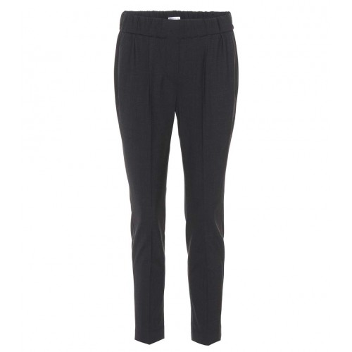 Brunello Cucinelli Cropped wool-blend trousers material 75% wool 23% polyamide 2% elastane P00305960 EGNFFWS