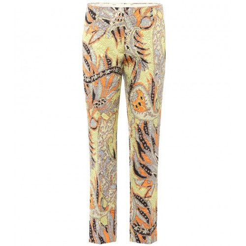 Dries Van Noten Floral jacquard cropped trousers material 52% cotton 52% viscose 3% polyester 2% polyamide P00314528 SXJDNKD