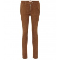 The Row Smashton skinny suede trousers material 100% lamb leather P00292593 UAWQQMC
