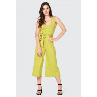 Women Clothing RIB BELTED CULOTTE JUMPSUIT  S047/1104/067_CHARTREUSE TLHDUWG